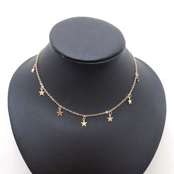 """Anya"" Vintage Star Choker Necklace - Glitzies Accessories"