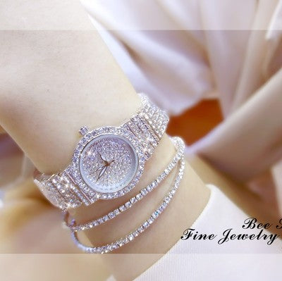 """Angelica"" Iced Sparkles Watch - Glitzies Accessories"
