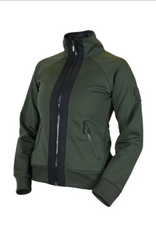 Equestrian Stockholm BOUNDED FLEECE JACKET DEEP OLIVINE