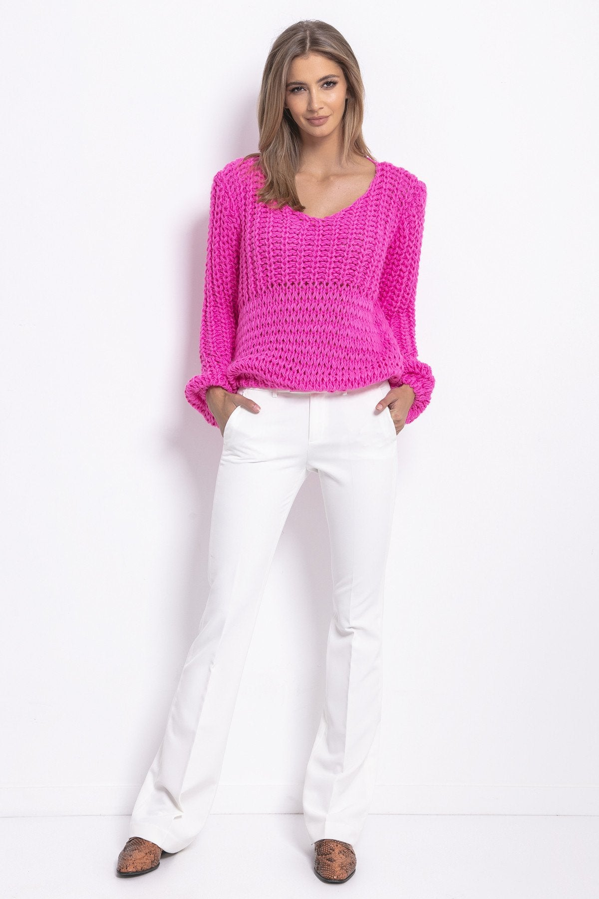 V Neck Sweater - LK's Boutique