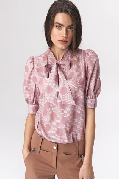 Tie Neck Blouse - LK's Boutique