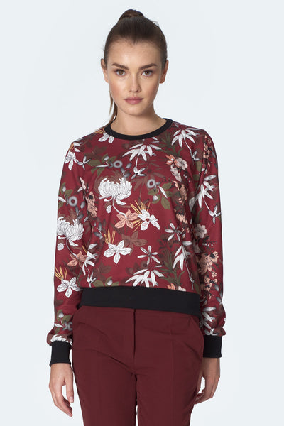 Floral Sweatshirt - LK's Boutique