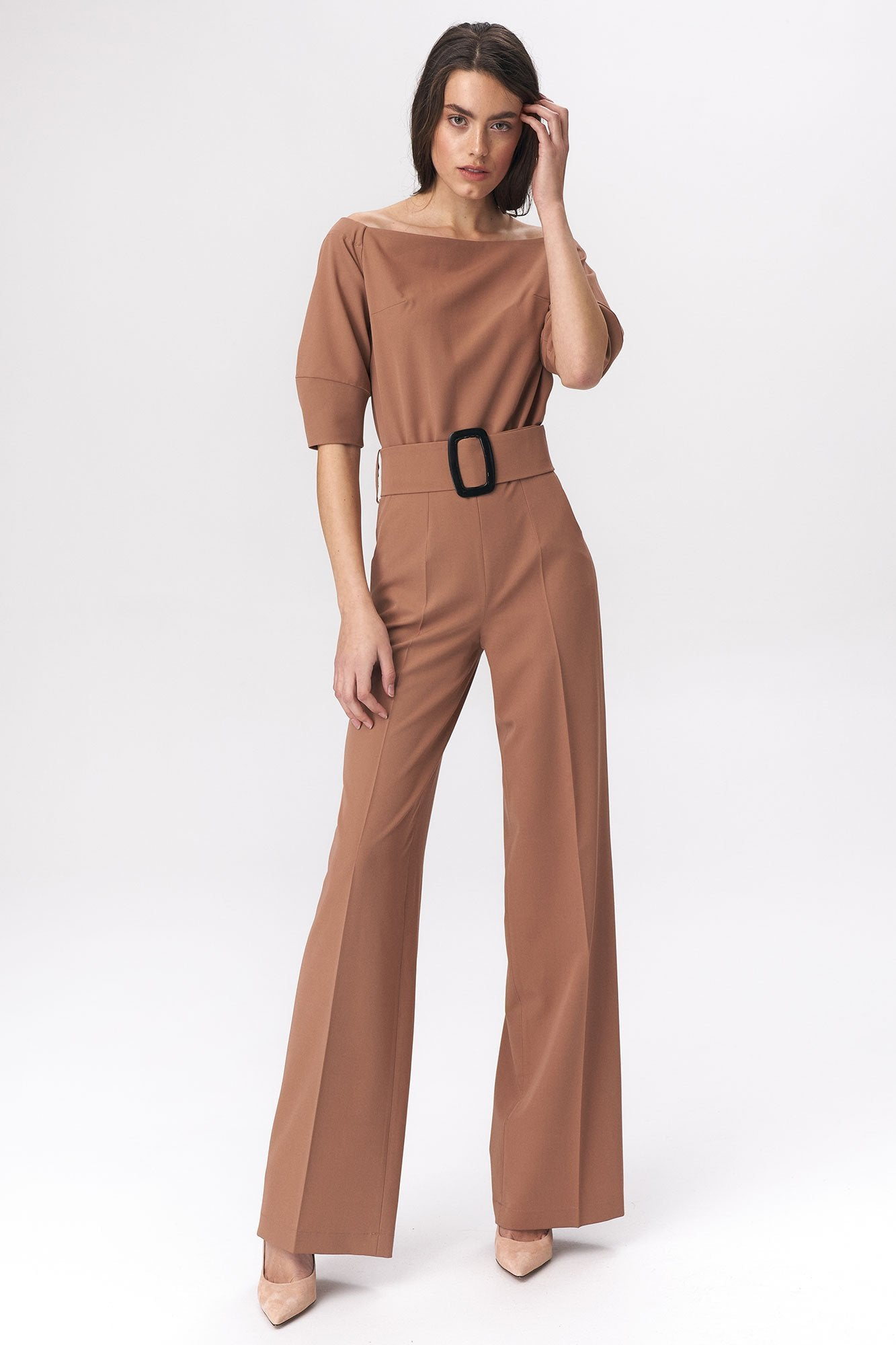 Boat Neck Jumpsuit - LK's Boutique