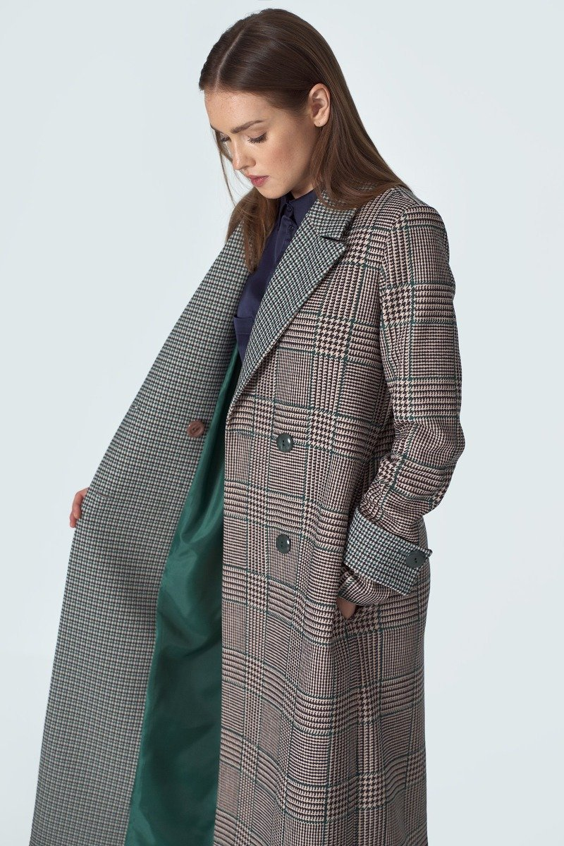 Plaid Winter Coat - LK's Boutique