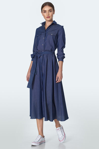 Denim Midi Dress - LK's Boutique