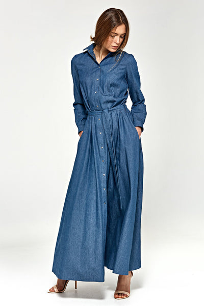 Denim Shirt Dress - LK's Boutique