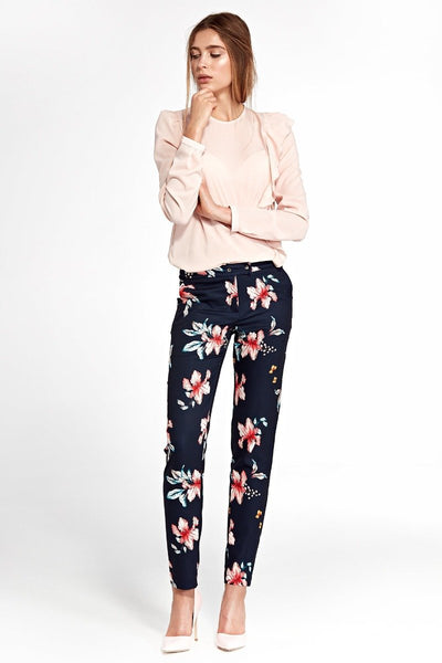 Navy Floral Pants - LK's Boutique