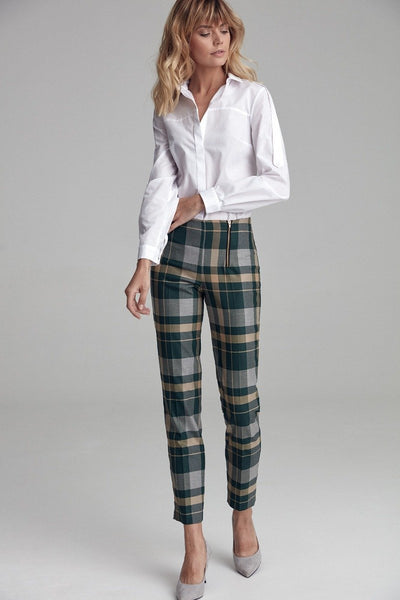 Green Checkered Pants - LK's Boutique
