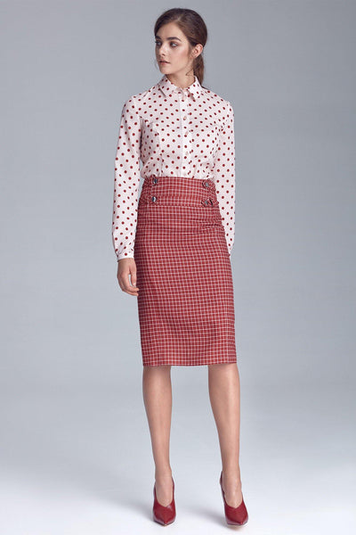 Plaid Pencil Skirt - LK's Boutique