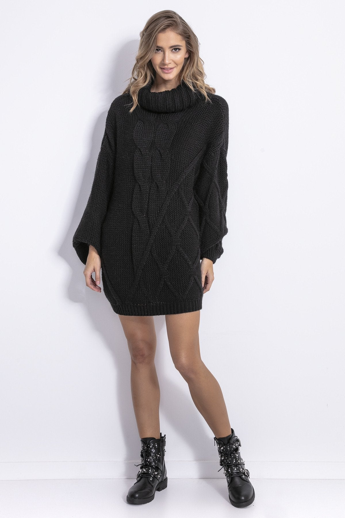 Turtleneck Sweater Dress - LK's Boutique