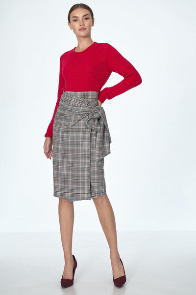 Plaid Wrap Skirt - LK's Boutique