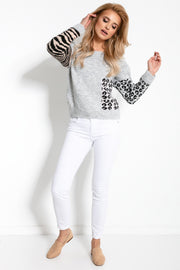 Animal Print Sweater - LK's Boutique