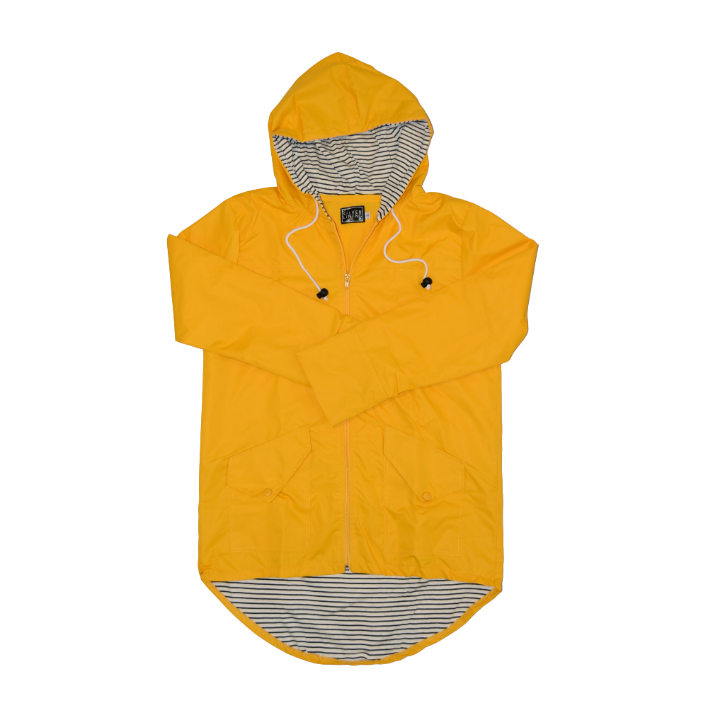 Silver Lining Gumboots Yellow Raincoat