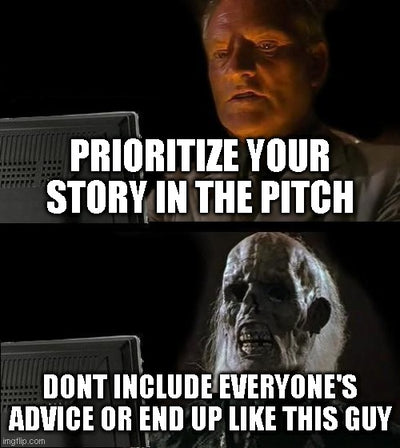Pitches are stories