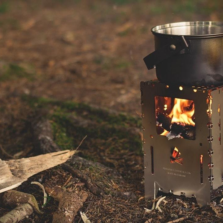 Camp Fire and Stove