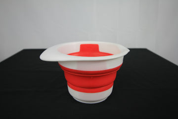 Collapsible bowl and measuring cup