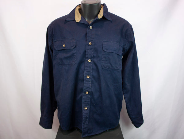 Fourcast Workwear Long Sleeve Shirt Blue-Men's Large