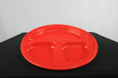 Plastic Camping Plate with Compartments