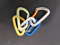 5 Assorted rock climbing carabiners