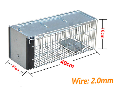 Live Catch Possum Trap Cage (40 x 21 x 18 cm) - PAKTEC