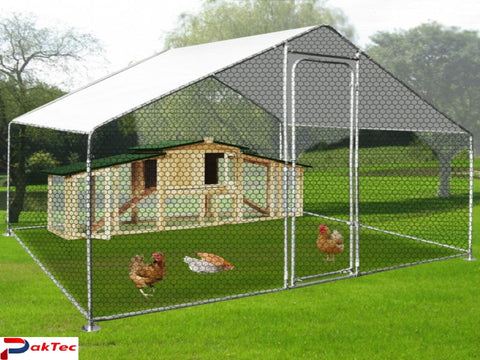 Backyard Chicken Coop Metal 32mm galvanized steel coop With Shade