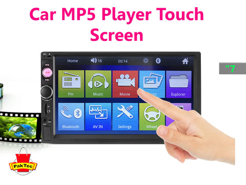 "7"" Car Radio MP5 Player Bluetooth Stereo MP5 Player - PAKTEC"