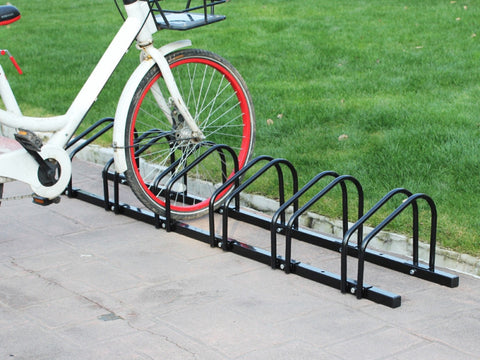 6-Slot Floor Mounted Bike Stand Bike Rack