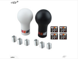 Mitsubishi Gear Shift Knob Black and White - PAKTEC