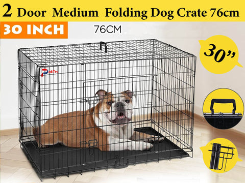 Double Doors Pet Cage - 30 inches (Medium)