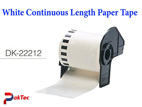 DK22212 White Continuous Length Paper Tape - PAKTEC