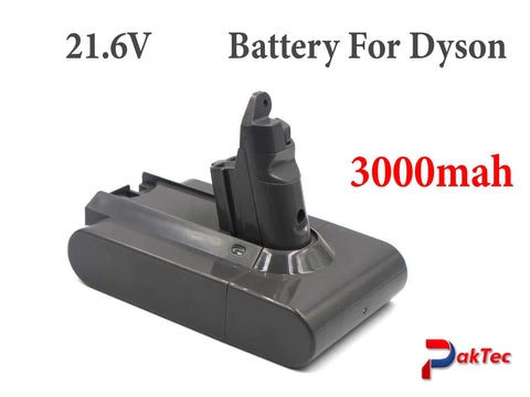 Replacement Battery for Dyson V6 Vacuum Cleaner 3000mAh 21.6V