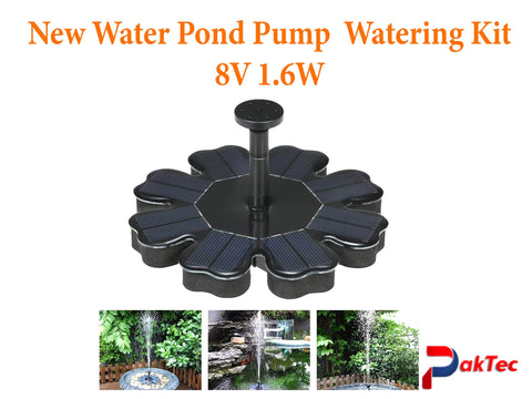 New Water Pond Pump Watering Kit  8V 1.6W - PAKTEC
