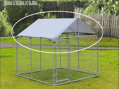 Roof Cover Compatible With Dog Kennel Runs 2.3M x 2.3M - PAKTEC