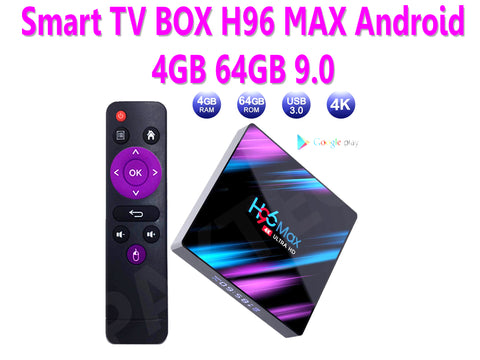 Smart TV BOX H96 MAX Android 9.0 4GB 64GB Quad Core WIFI Media Player - PAKTEC