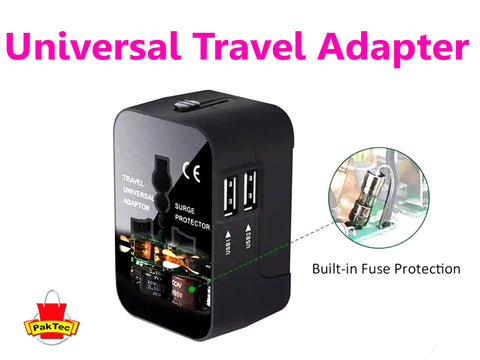 International Travel Adapter (5V 2.1A) - PAKTEC