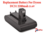 Replacement Battery For Dyson DC31 2200mah 21.6v - PAKTEC