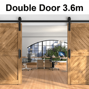 Barn Door Hardware Track 3.6M Double Door - PAKTEC