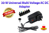 30W Universal Muti Voltage AC/DC Adapter Switching Power Supply with USB output - PAKTEC