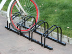 4-Slot Floor Mounted Bike Stand Bike Rack