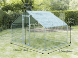 Backyard Chicken Coop Metal 32mm galvanized steel coop With Shade - PAKTEC