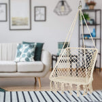 Hammock Knitted Macrame Swing Chair- Square Shape for Patio Bedroom Balcony