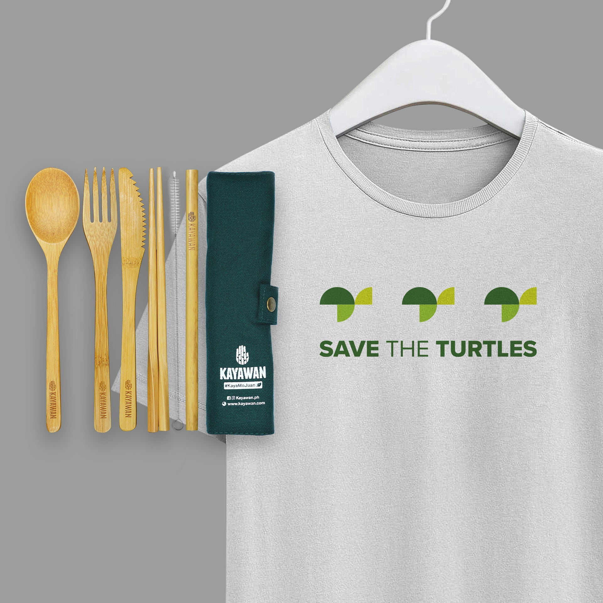 Kayawan Tshirt and Cutlery Set