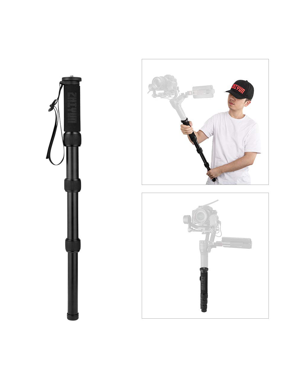 [アウトレット品] TransMount Mini Monopod (0.65m extension rod)