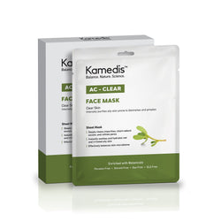 AC-CLEAR Mask Sheet <br><small>Purifies Oily Skin Prone to Blemishes and Pimples</small>