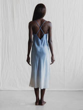 Load image into Gallery viewer, Silk Slip Dress ombre Made In Australia Faid Store