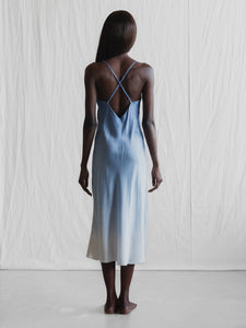 Silk Slip Dress ombre Made In Australia Faid Store
