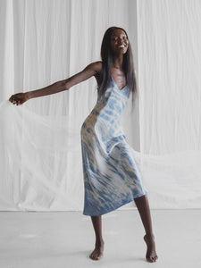 Ms Kensington | Silk slip dress tie die | Made in Australia