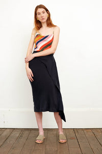 CEDAR & ONYX - Skylar Navy Skirt - Australian Fashion and Accessories Boutique - Faid Store