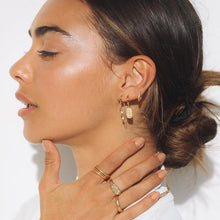 Load image into Gallery viewer, ARMS OF EVE - Paloma Gold Huggie Earrings