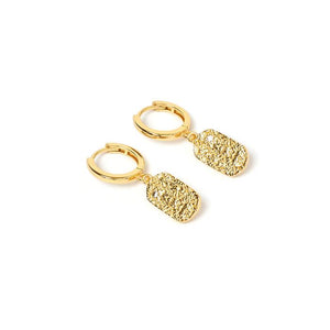 ARMS OF EVE - Mendoza Gold Huggie Earrings